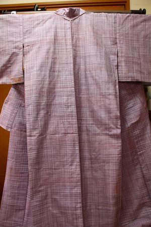 【USED】紫の紬・単衣