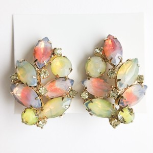 """KRAMER"" color rhinestone design earring[e-1103]"