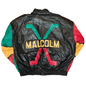 """Malcolm X"" Vintage Leather Jacket Used"