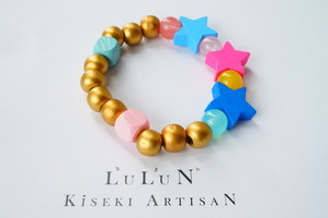LuLuNキッズブレスレットStone&Wood(アートギャラリーコレクション2)