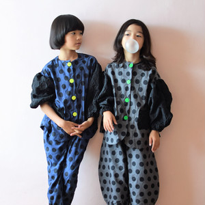 RING MATELASSE WAVE SLEEVES DOTS JACKET / LL