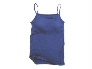 ◆100%自然素材 天然灰汁発酵建て 藍染◆ 高素材 カップ付き キャミソール