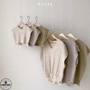 «sold out» tweed knit vest 3colors ニットベスト