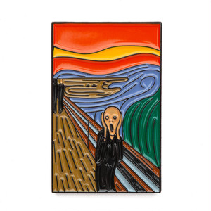 "Today Is Art Day ピンバッジ ソフト エナメル ""The Scream by Edvard Munch"" AJ00433"