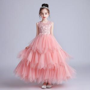 8381キッズドレス 子供ドレス ジュニア プリンセス 女の子ドレス フォーマル ロングワンピース マキシ丈 ノースリープ110-170cm