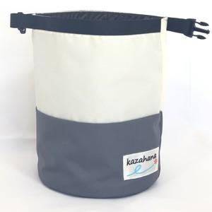kazahanaグランドチョークバッグ  ナチュラル/グレー