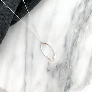 sv925 oval long necklace