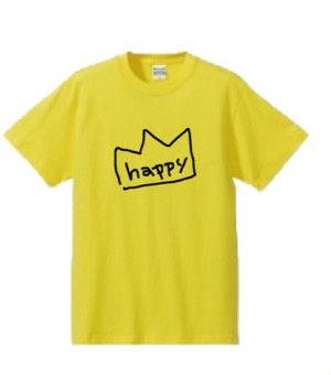 HAPPYキングTシャツ yellow
