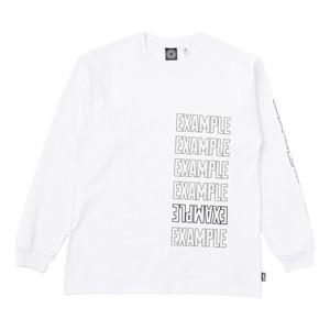 EXAMPLE 6LOGO L/S TEE / WHITE
