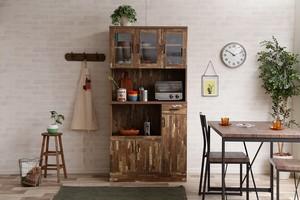 CAVA Kitchen Shelf / 西海岸ヴィンテージスタイル キッチンシェルフ