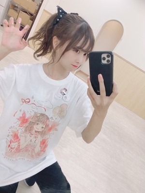 青木りさTシャツ ホワイト / Lサイズ【ZR0027】