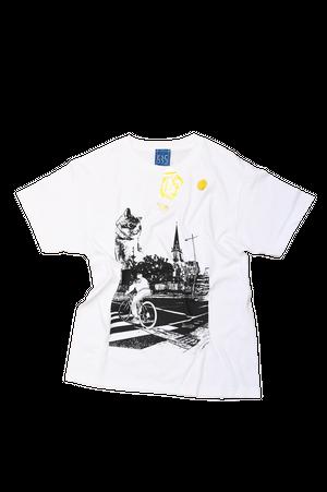 NO.535 久留米を見守る猫のTシャツ【福岡】【Mサイズ】