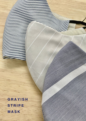 GRAYISH STRIPE MASK