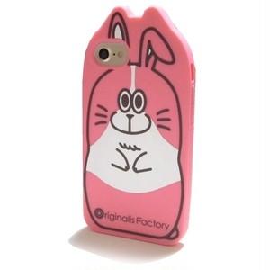 Originalis Factory かわいい うさぎ rabbit iphone7ケース 6 6s 対応 シリコン 兎 カバー セブン ピンク 桃