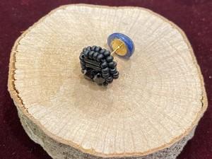 天然石×ビーズ刺繍の2wayピアス(ラピスラズリ)
