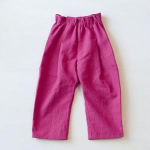 KIDS  ワイドテーパード リネンパンツ (80〜110サイズ)・ピンク