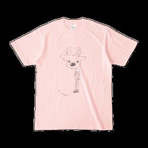 しましか 自画像Tシャツ ライトピンク