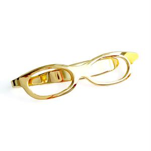 メガネ型クリップ / ゴールド