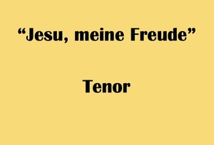"""テノール用 """"Jesu, meine Freude"""" BWV227 Karaoke for Tenor"""