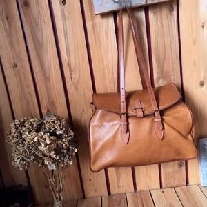 ≫renomaオールドレノマ*上質総本革オールレザーショルダーバッグ*トートバックボストンバッグ茶ブラウン系男女兼用ヴィンテージかばん鞄