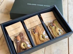 【無添加】幸せをすくう米粉のスプーンクッキーギフトセット(プレーン2袋、ココア2袋、抹茶2袋)