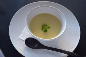 安納芋とポロ葱のスープ