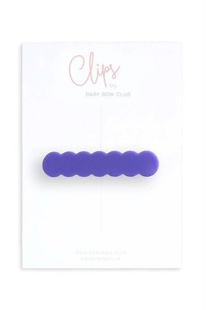 BABY BOW CLUB Scallop Clip // Iris