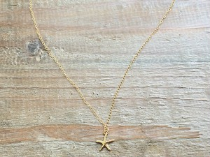 "14kgf necklace""starfish"""