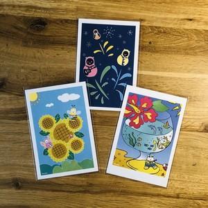 ポストカード 夏シリーズ 3枚セット