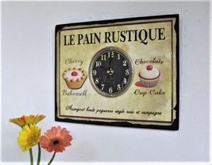 フランスSOPAFRA社《Clementine Creation》 フレンチレトロ・かべ時計/ パン屋さん