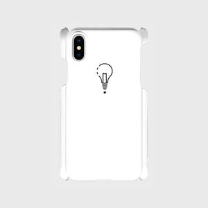 【X,8,7,SE】ロゴiPhoneケース白