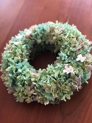 紫陽花リース・プリザーブドフラワー
