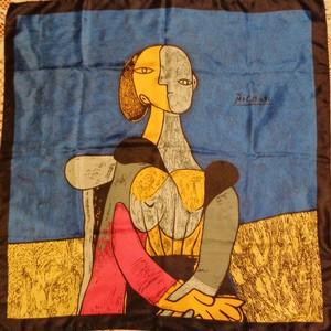 Pablo Picasso big scarf ピカソ 絵画柄 大判スカーフ