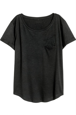 Whisper Pocket Tee - Black