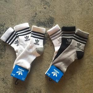 adidas Originals Strip Trefoil Logo Quarter 3 Pack Socks