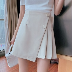 2色/サイドプリーツボタンスカート ・14611