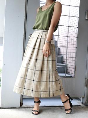 80's dead stock box pleats skirt