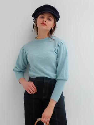 volume sleeve knit(blue)