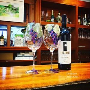 【ぶどう】大振りの葡萄ワイングラス1客/父の日ギフト・母の日ギフト・誕生日プレゼント・還暦祝い・結婚祝い