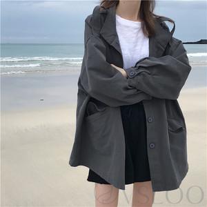 【アウター】ファッション無地切り替えコート44088285