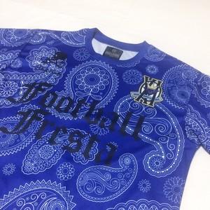 SKULLKICKS×FootballFrestaコラボプラシャツ【ブルー】