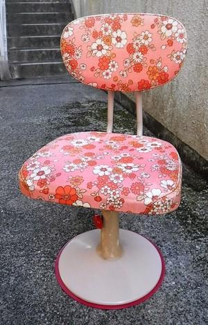 レトロな学習椅子【ピンク】(0420102YB)