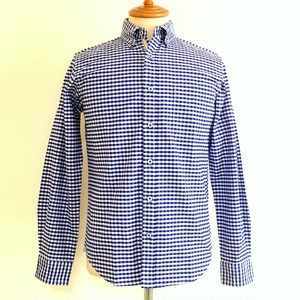 Gingham-Ox BD Shirts Blue Gingham
