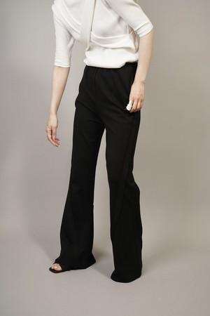 STITCH FLARE PANTS (BLACK) 2105-594-HK51