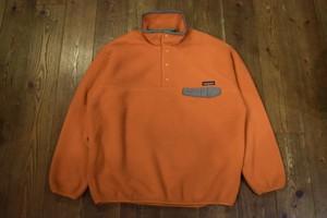 USED 美品 USA製 パタゴニア シンチラ スナップT  L 90s patagonia snap-T オレンジ系