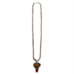 Vintage Mexican Tiger's Eye & Carnelian  Top  Necklace