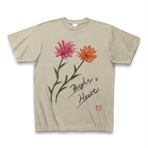 Bright♡Heart Tシャツ(ブライトハートフラワー)グレー