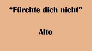 """アルト用 """"Fürchte dich nicht"""" BWV 228 Karaoke for Alto"""