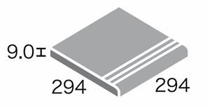 プリモス 300角階段 (3本線凹)/SWANTILE スワンタイル テラコッタ調