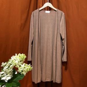 Rib Long Cardigan   Color : Brown